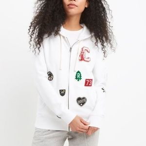 Roots Patch Work Zip Up Sweater